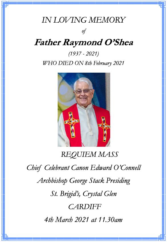 Fr Ray O'Shea Order of Service