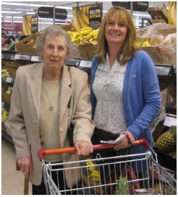 Good Neighbours- helping a client with shopping